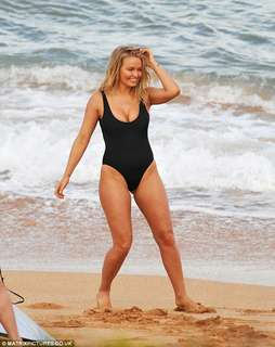 Cotton On X Lara Bingle Black Swimsuit