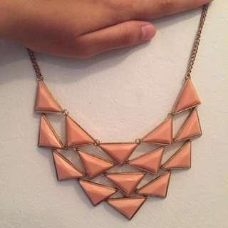 Pyramidal necklace
