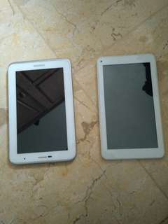 2 Tablet satu Samsung satu Advan