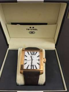 TW Steel Leather Strap Watch (Brown)