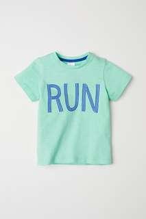 T-shirt run H&M size 6-9 dan 18-24