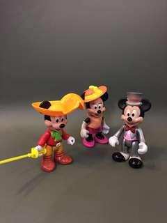 1980 年代 Disney 實心 正版古董米奇美妮 共3隻出售 13cm高 $280