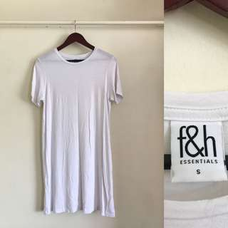 Folded & Hung White T-Shirt Dress