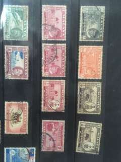 Old stamps of Malaya