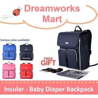 [INSULAR] Baby Diaper Backpack / Diaper Bag