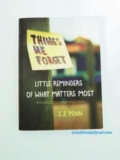 Book by J.J.Penn ( Things We Forget)