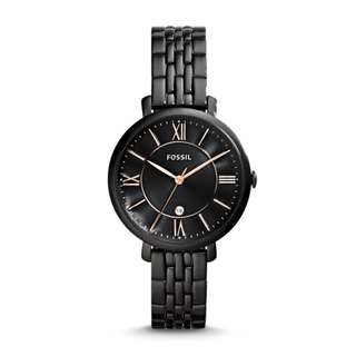 Women's Fossil Jacqueline Black Watch ES3614