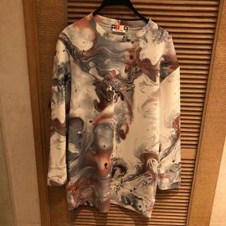 MSGM marble patterned top