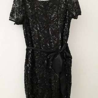 Black Party  Dress with Sequins