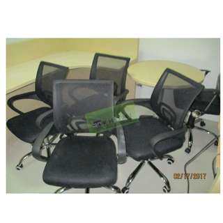 MESH EXECUTIVE CHAIRS  STAFF CHAIRS VISITORS CHAIRS 4 LEGGED