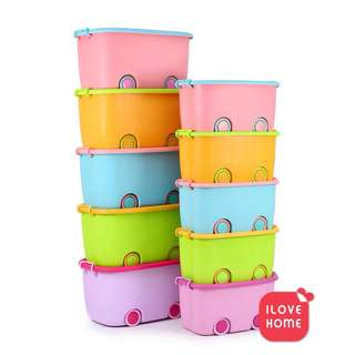 Storage Box Colourful with Wheel