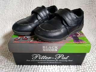 Pitter Pat Black Shoes