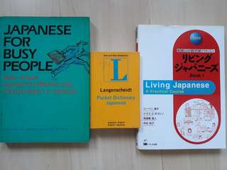 Learning Japanese language books and dictionary