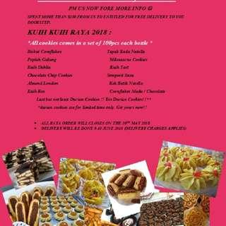 Varities of Hari Raya Cookies