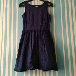 Navy Blue Fit and Flare Dres Penshoppe