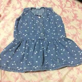 REPRICED DENIM Cotton Dress 3mos
