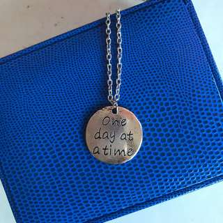 One day at a time Necklace pendant
