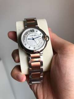 Cartier two tone strap