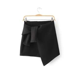 Irregular high waist skirt bust skirt