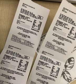2 Infinity War Tickets SM Light, April 25,2018-9PM
