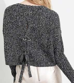 Hollister Lace-Up Back Sweater