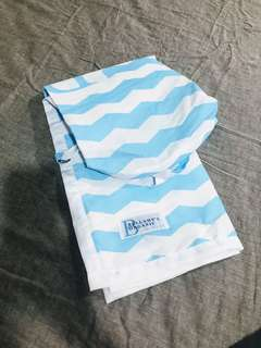 Mint Nursing Cover in Blue & White Chevron