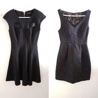 Miss Selfridge and Forever New Black Dress