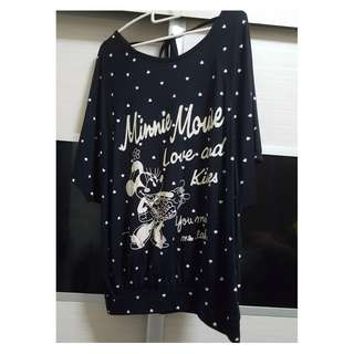 Brand New (Washed) Woman, Ladies CLothings, Plus Size, XL 75-80kg, Woman, ladies Clothings, Top, Blouses, Tee, Dress, Minnie, Plus Size, Korean Style (Selling on behalf)