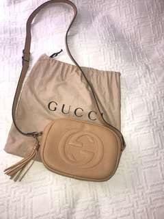 Beige GG side bag