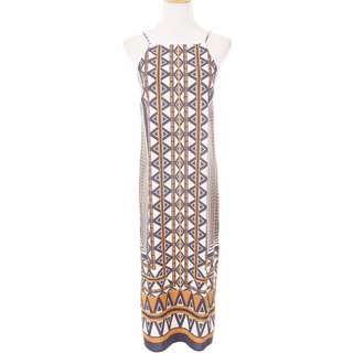Tribal Print Bodycon Slit Dress