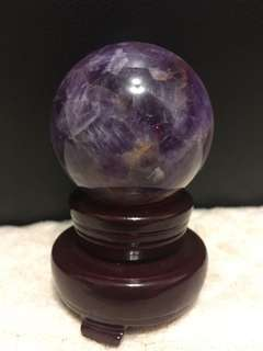 Good quality Brazil amethyst crystal ball base included(高级巴西紫水晶球带底座)Come with free gift