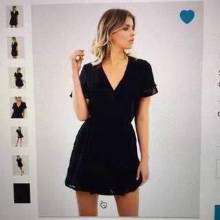 Desire Textured Wrap Dress
