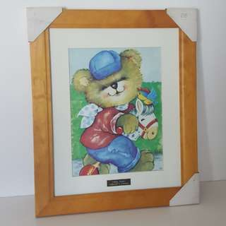 Wooden Photo Frame Teddy Bear Décor