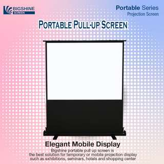 [BIGSHINE] 80 Inch Portable Pull Up Projector Screen