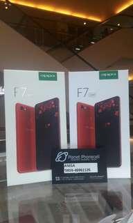 Oppo F7 Red/Silver bisa di kredit