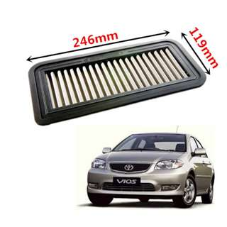 Toyota Vios 03-07 Washable Racing Air Filter