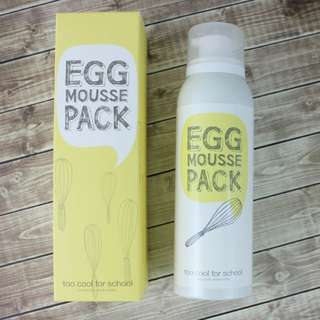 Egg mousse pack