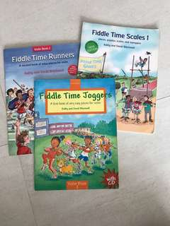 Fiddle Time Music books for violin
