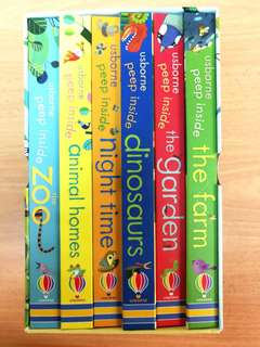 Usborne peep inside 6 books box set