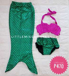 Mermaid inspired swimwear for kids