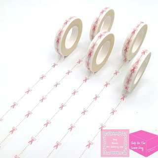 Set of 10m Red Scissors Slim Washi Tape