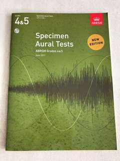 Specimen Aural Tests. Grade 4-5.