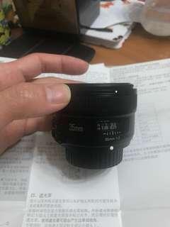 永諾 35 mm F 2.0大光圈鏡頭(Nikon)