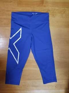 2XU Women Compression 3/4 Tights, Blue, M Size