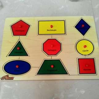 9 Piece Shapes Puzzle