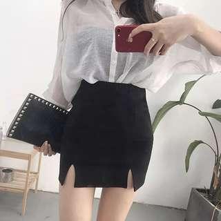 A-Line Slit Skirt (PO)