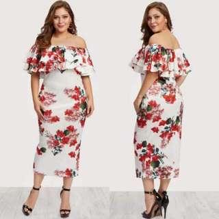 🍃Formal Plussize Bodycon Dress