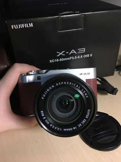 FUJIFILM XA-3 SERIES BROWN MAROON LIMITED EDITION ( LIKE NEW 99,99%)