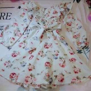 🚚 超美薔薇洋裝 原價3000以上 日貨 日系