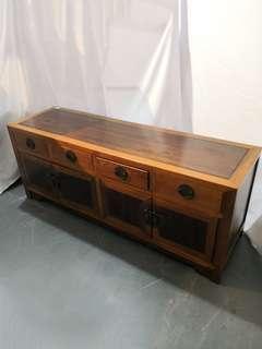 Wooden oriental TV console